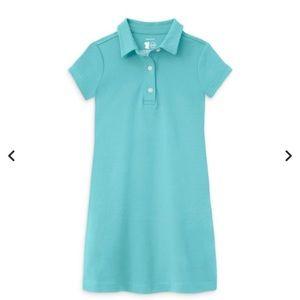 Primary polo shirt dress, girls 6-7